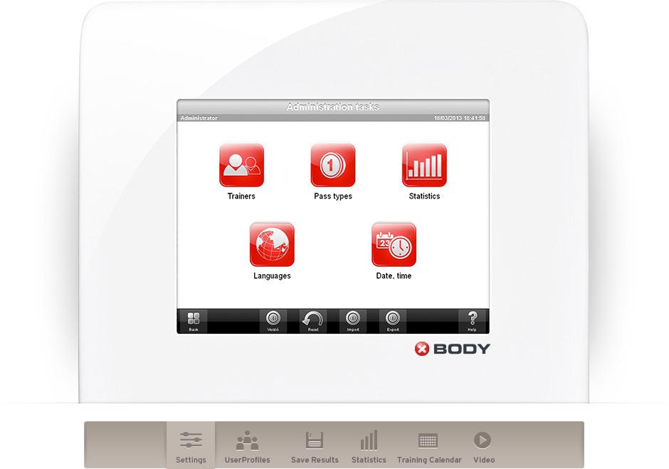 Body wall touchscreen
